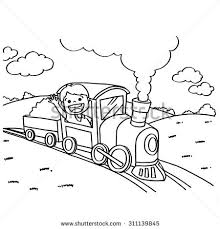 train coloring pages vector stock vector 311139845 shutterstock