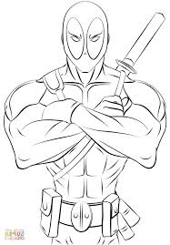 deadpool printable coloring pages coloring pages kids