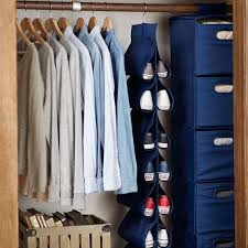 hanging closet shoe storage solid pbteen