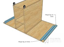 folding sewing table plans fpudining