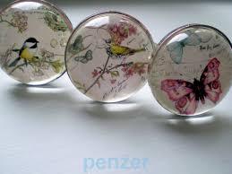 antique glass door knobs value vtg glass door knobs nature bird butterfly dragonfly cabinet
