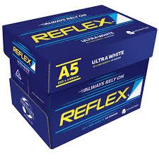 paper ream box reflex ultra white 80gsm a5 copy paper 10 ream officeworks