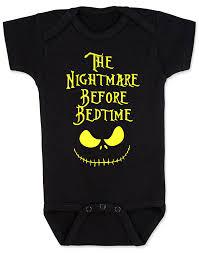 nightmare before bedtime baby onesie