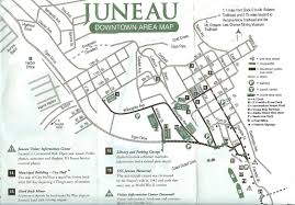Alaska Road Map by Juneau Sights U0026 Attractions