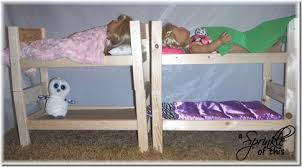 Wood To Make Bunk Beds by A Sprinkle Of This Diy American Wood Doll Bed U2013kid Craft
