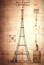 eiffel tower design digital art by bill cannon