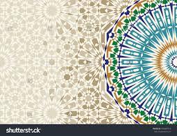 Morocco Design Disintegration Morocco Mosaic Abstract Template Arabic Stock