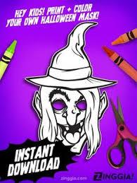 6 monster coloring masks kids cut color wear u0026 scare