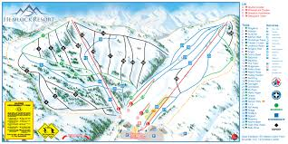 Montana Ski Resorts Map by Sasquatch Mountain Resort Piste Map Trail Map