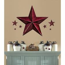 18 in x 40 in Barn Star 18 Piece Peel and Stick Giant Wal Decal