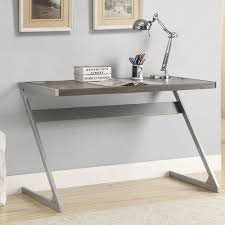 Z Shaped Desk Wooden Top Desk With Built In Bluetooth Speaker And Z Shaped Metal