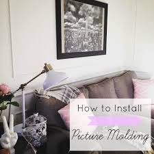 how to install picture molding part 1 at home with ashley