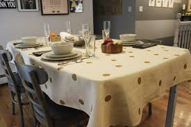 diy polka dot tablecloth for thanksgiving dinner