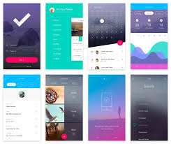 material design ui kit flat ui design 100 app screens free
