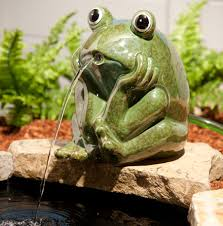 pond fountains water features pond ceramic frog spitter