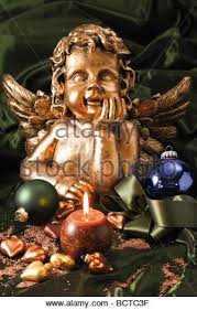 Branches With Lights Christmas Angel And Balls On A Tree Branch With Lights Decorated
