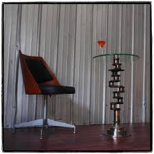 martini side table pencil holders tables aviation art airplane furniture