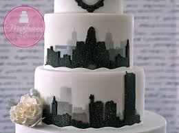 city in a blizzard silhouette cake mcgreevy cakes