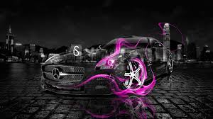 pink mercedes amg mercedes benz sls amg fire crystal car 2013 el tony
