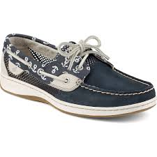 ugg womens boat shoes sperry bluefish anchor print 2 eye boat shoe