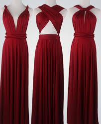 wine red bridesmaid dress infinity dress convertible dress wrap