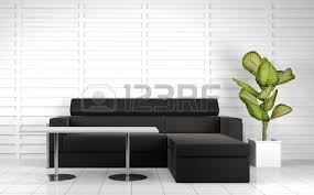 3d Sofa Orange Sofa In White Room Done In 3d Stock Photo Picture And