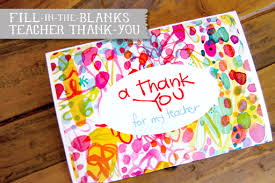 thank you cards for teachers fill in thank you free printable