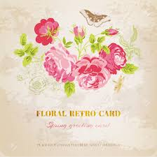 floral shabby chic card vintage design royalty free cliparts