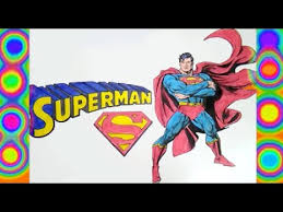 superman coloring pages superheroes colors superman logo learn