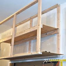Build Wood Shelving Unit by Diy Garage Storage Ceiling Mounted Shelves Giveawaybuild Your Own