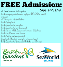 busch gardens family pass free admission for first responders sea world u0026 busch gardens
