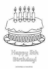 birthday colouring pages