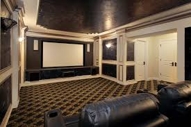 Home Cinema Decorating Ideas Living Chic Ivory Home Theater Marble Accent Wall Background