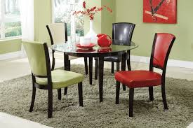 Addison Black And Cherry Wood Dining Table StealASofa - Kitchen glass table