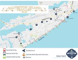 United Route Map by Trolley Information Galveston Tx Official Website