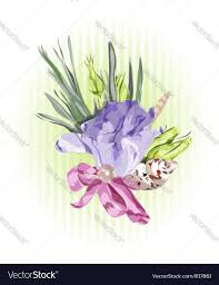 floral decor with eustoma royalty free vector image