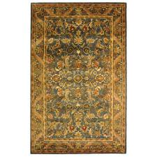 Blue And Gold Rug Safavieh Antiquity Blue Gold 9 Ft X 12 Ft Area Rug At52c 912