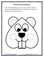 groundhog coloring sheet shadow teaching