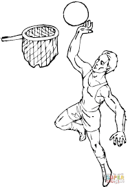 basketball coloring page free printable coloring pages