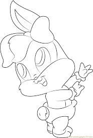 baby looney tunes coloring pages lola