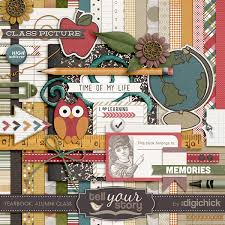 class yearbook yearbook alumni class digital scrapbook kit
