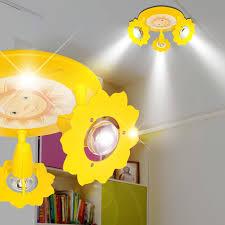 spot chambre enfant projecteur de plafond ø280mm enfant jaune le luminaire chambre