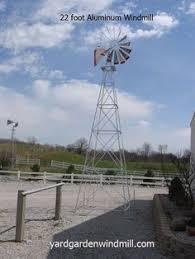 18 foot made in usa aluminum garden windmill 18 around the