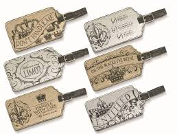 luggage tag favors crown theme luggage tags