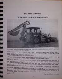 case 580sm 590sm 580m loader backhoe operator maintenace operation