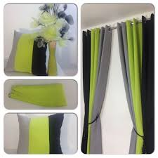 Green And White Curtains Decor Lime Green Curtains Free Home Decor Techhungry Us