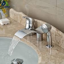 compare prices on designer bath taps online shopping buy low unique design curve waterfall spout bathtub mixer taps 3pcs brass tub shower faucet with handshower