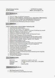 Sap Resume Samples For Freshers by 28 Sap Basis Resume Sample Resume Samples Sap Basis Consultant