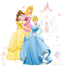 wall stickers wall coverings wallpaper diy at b q disney princess multicolour self adhesive wall sticker l 1m