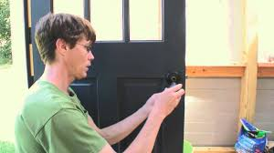 Exterior Door Knob Replacement by How To Install An Exterior Door Knob Youtube